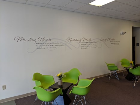 Vinyl Wall Graphic for New Hope Church Clemmons, NC
