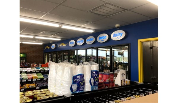 Lightbox Signs for Breeze Thru Convenience Store in Cary, NC