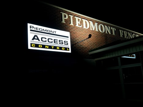 Piedmont Access Control LED Illuminated Lightbox