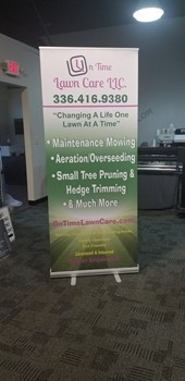 On Time Lawn Care Retractable Banner Clemmons, NC